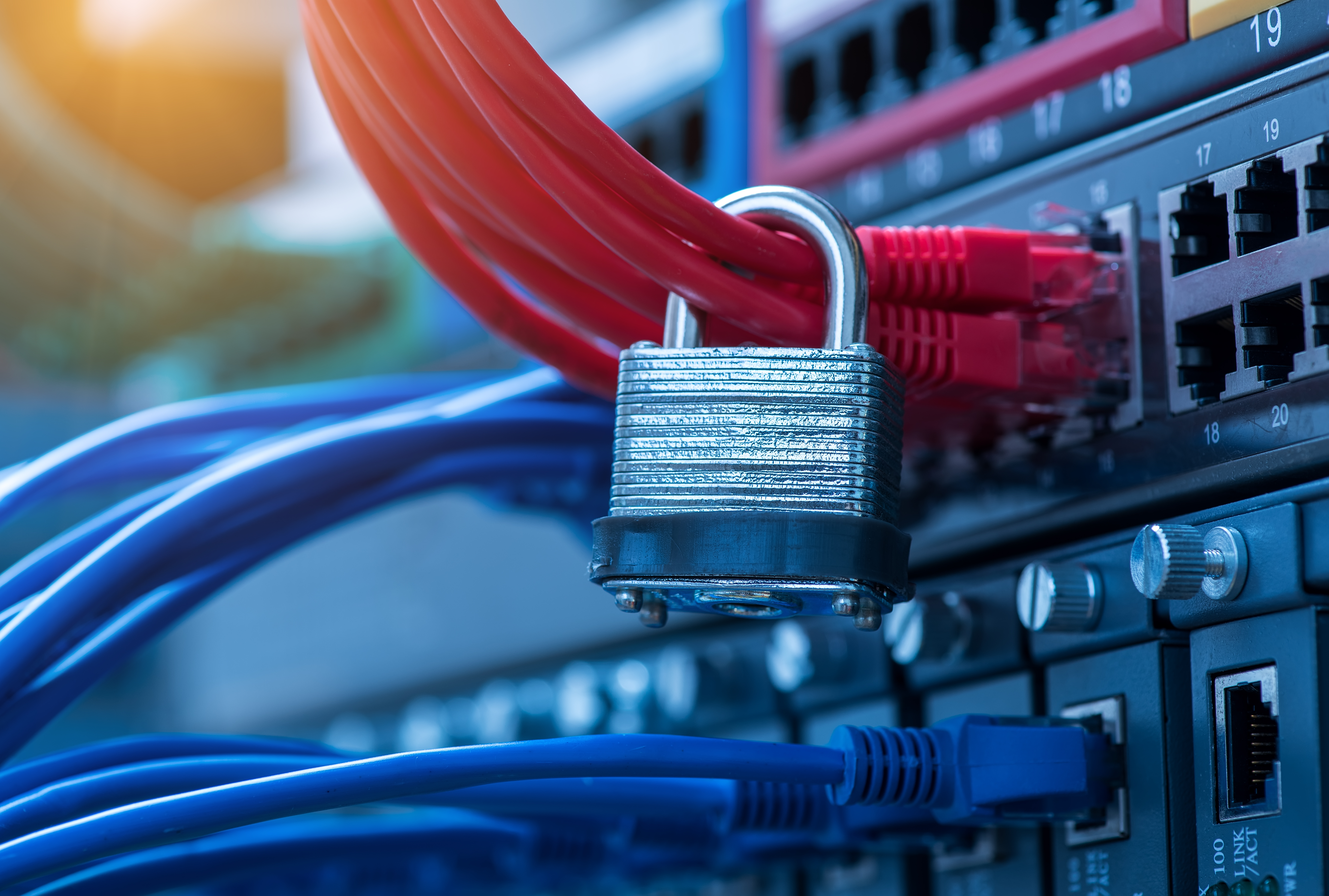 Lock for Network Cables - Network Security with Access Governance