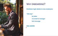 SSRPM New User Onboarding